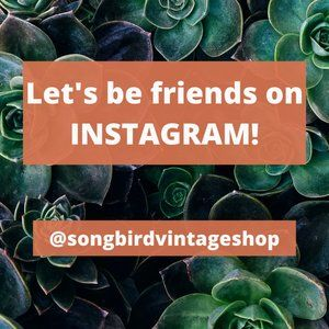 Let's be friends on Instagram @songbirdvintageshop